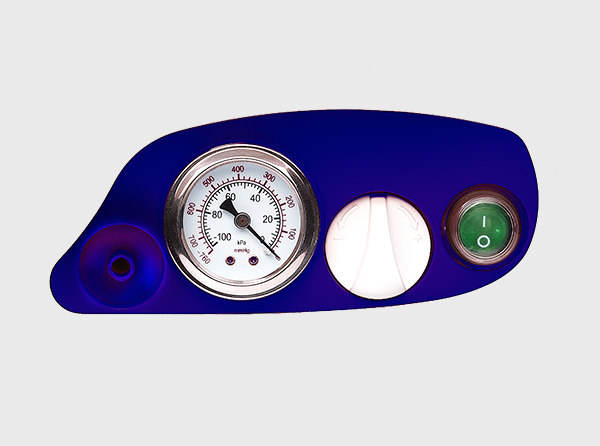 Pressure regulator and easy to read analogue pressure gauge