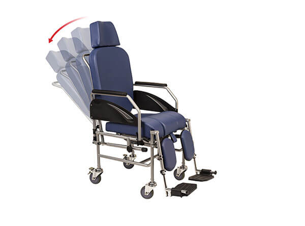 Respaldo anatómico reclinable para ofrecer mayor confort al usuario