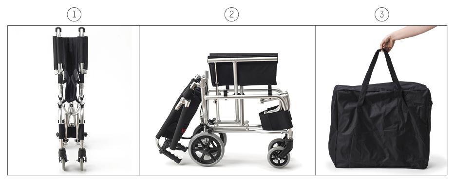 Se pliega y dispone de una bolsa de transporte para su almacenaje.