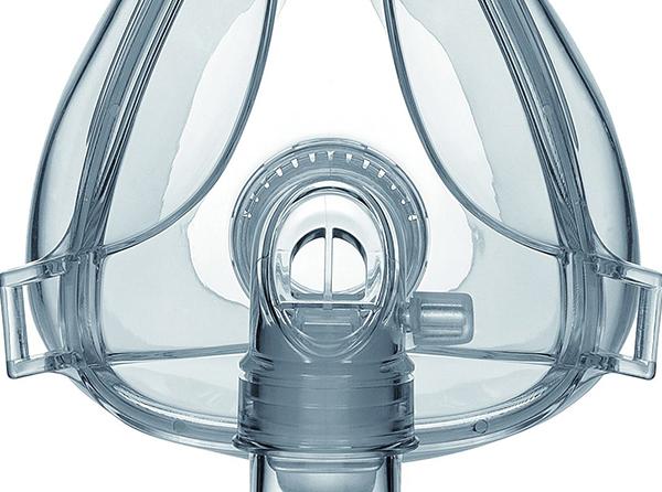 Incorpora canal de exhalación para una ventilación silenciosa de CO<sub>2</sub>. Codo de 360º que favorece la movilidad.